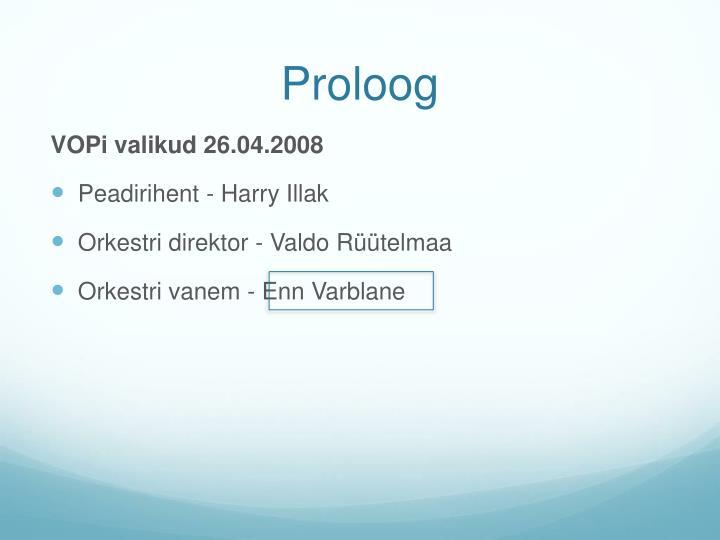 Proloog
