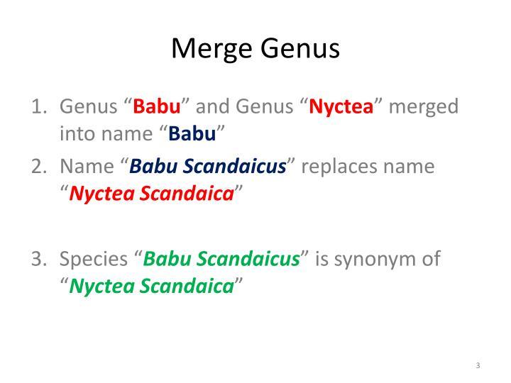 Merge genus