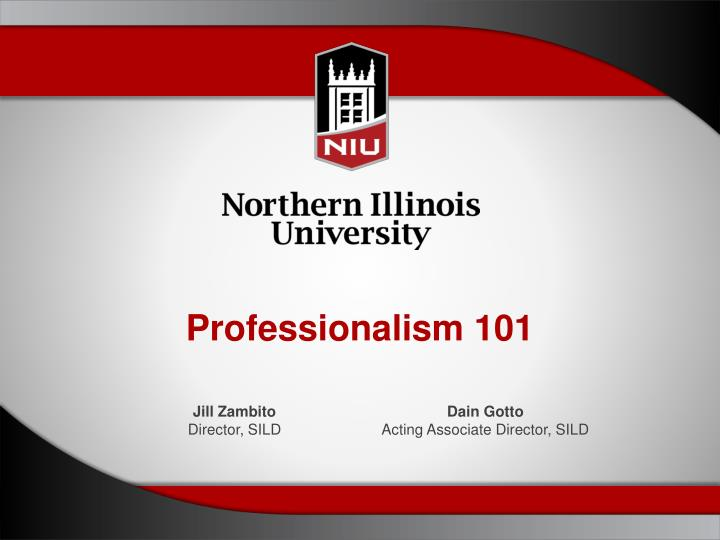 a95e5b30652 PPT - Professionalism 101 PowerPoint Presentation - ID 2345905