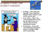 warren court and suspect s rights