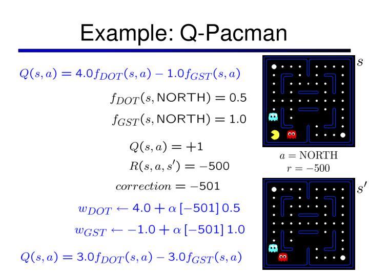 Example: Q-Pacman