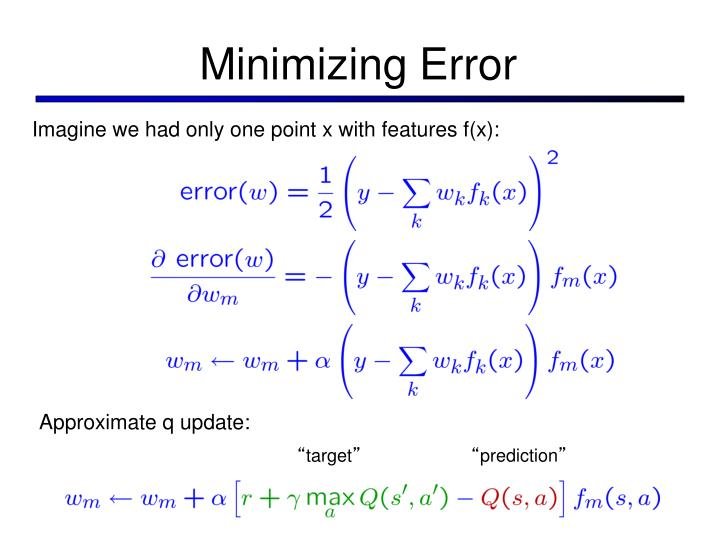 Minimizing Error