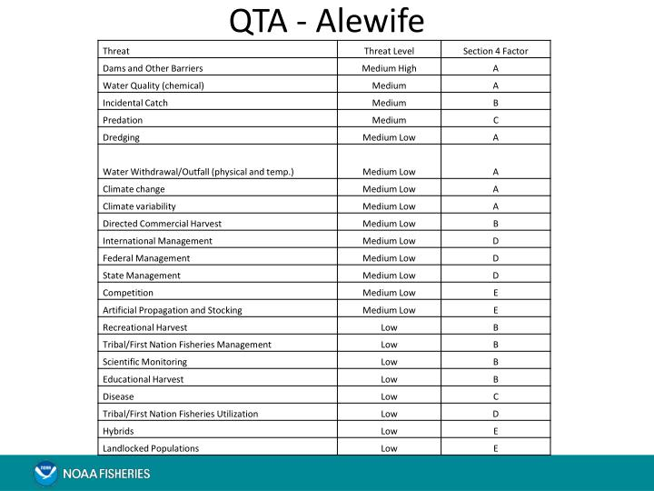QTA - Alewife