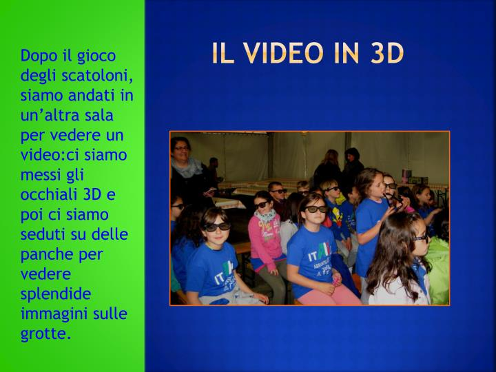 Il video in 3d