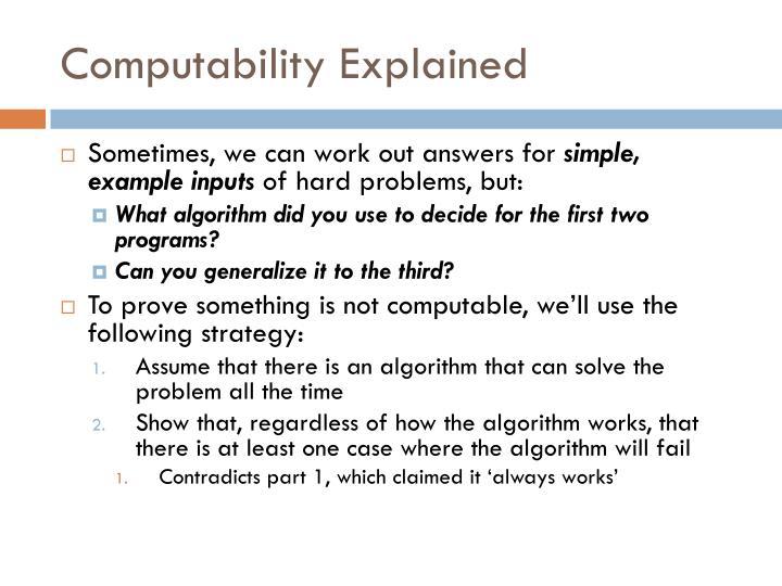 Computability Explained