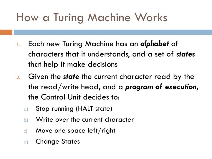 How a Turing Machine Works