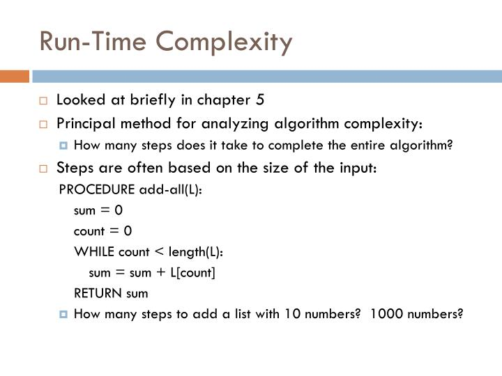 Run-Time Complexity