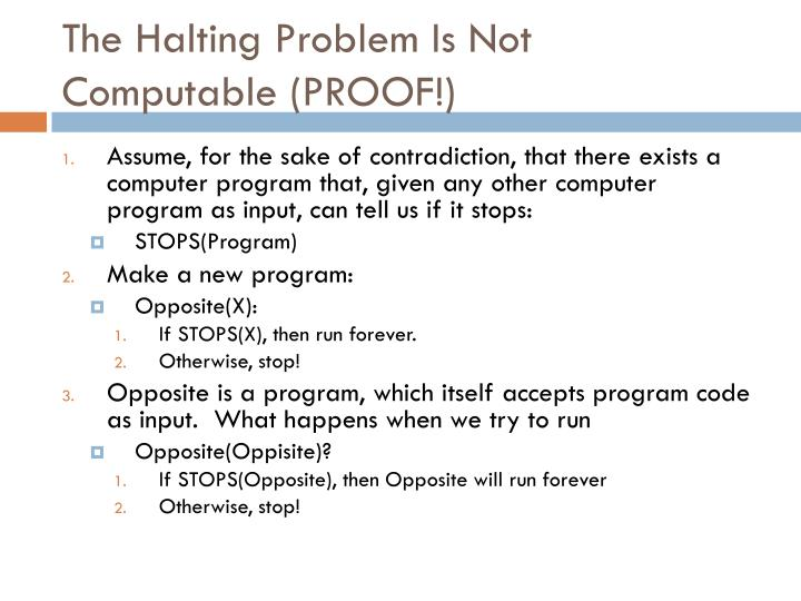 The Halting Problem Is Not Computable (PROOF!)