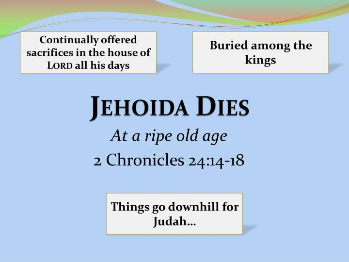 Continually offered sacrifices in the house of
