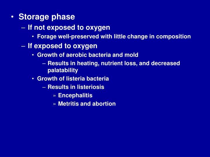 Storage phase