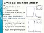 crystal ball parameter variation