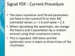 signal pdf current procedure