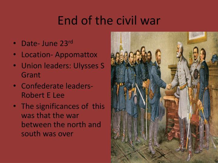 Ppt Civil War April 12 Th 1861 April 9 Th 1865