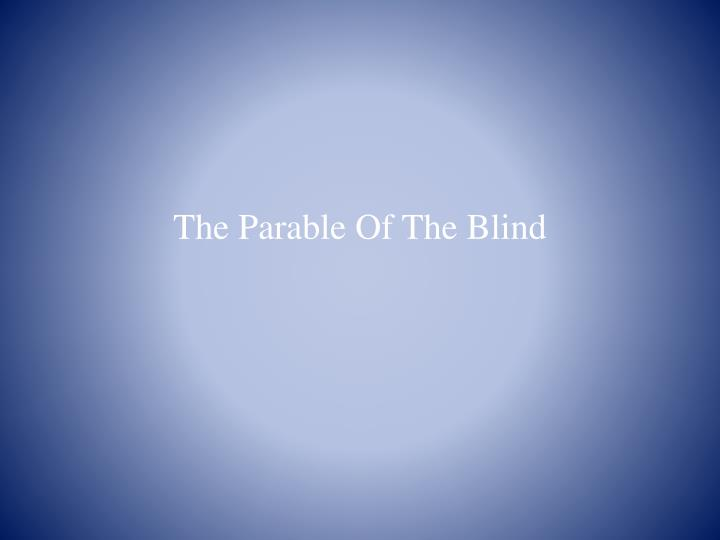 the parable of the blind n.