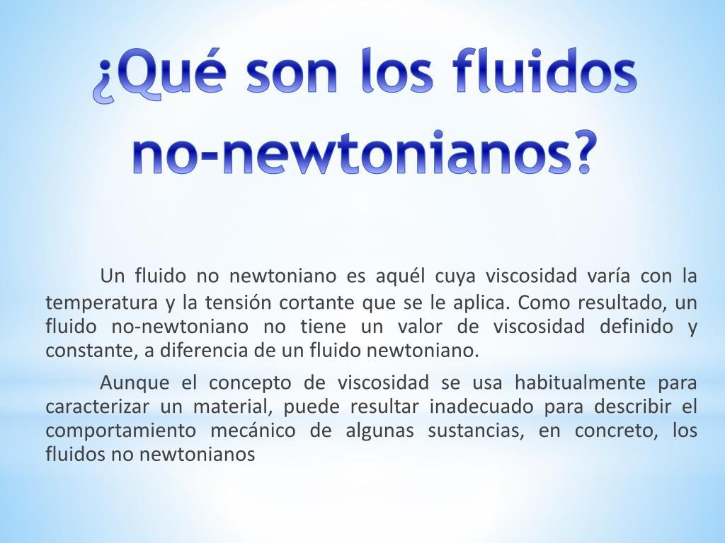 Propiedades de los fluidos no newtonianos pdf