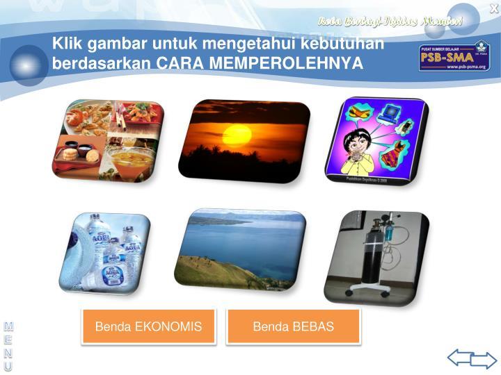 Klik gambar untuk mengetahui kebutuhan berdasarkan CARA MEMPEROLEHNYA