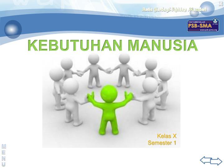 KEBUTUHAN MANUSIA