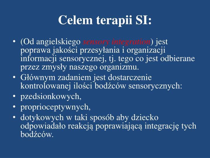 Celem terapii SI: