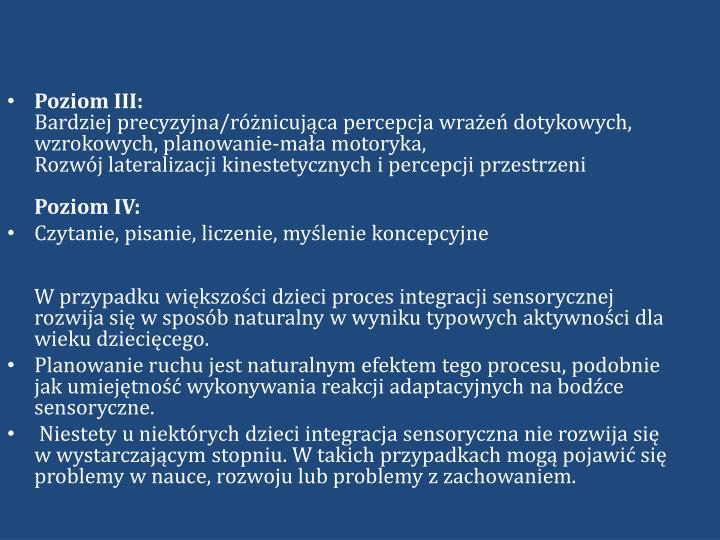 Poziom III: