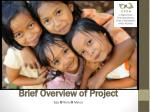brief overview of project