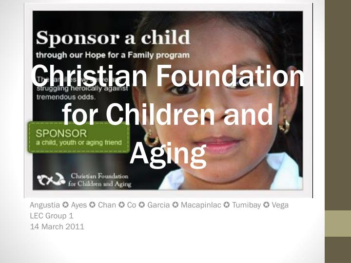 christian foundation for children and aging n.