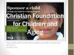 christian foundation for children and aging