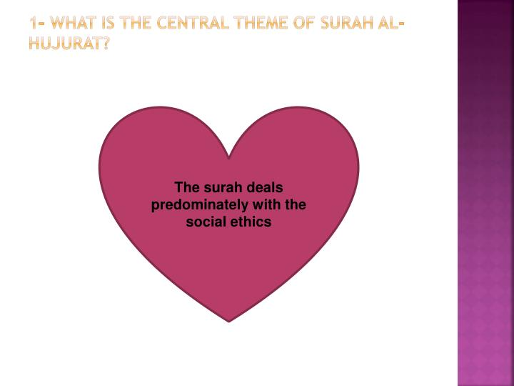 1 what is the central theme of surah al hujurat