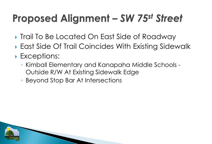 Proposed Alignment –