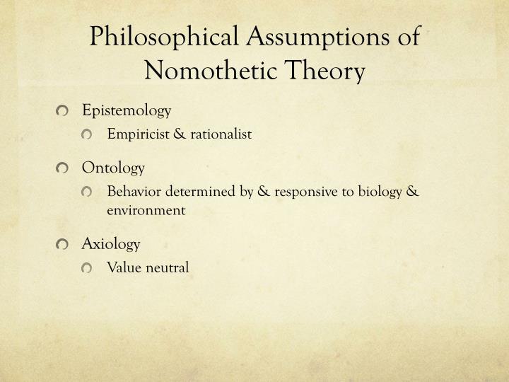 nomothetic theory