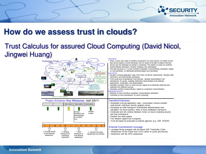 How do we assess trust in clouds?