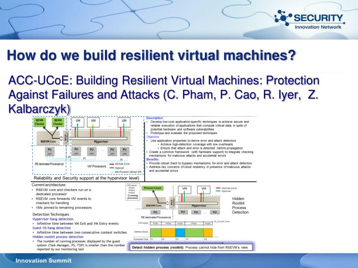 How do we build resilient virtual machines?