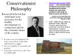 conservationist philosophy