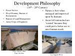 development philosophy 18 th 20 th century