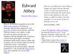 edward abbey