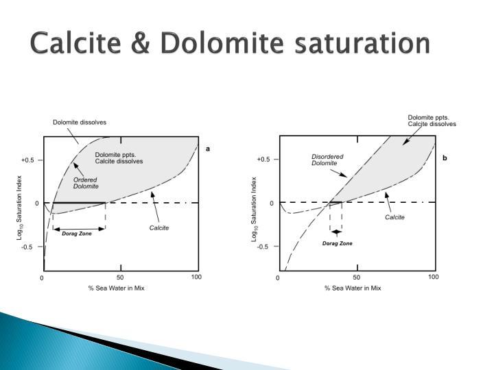 Calcite & Dolomite saturation
