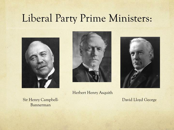 Liberal Party Prime Ministers: