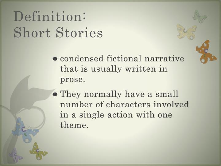 Definition short stories