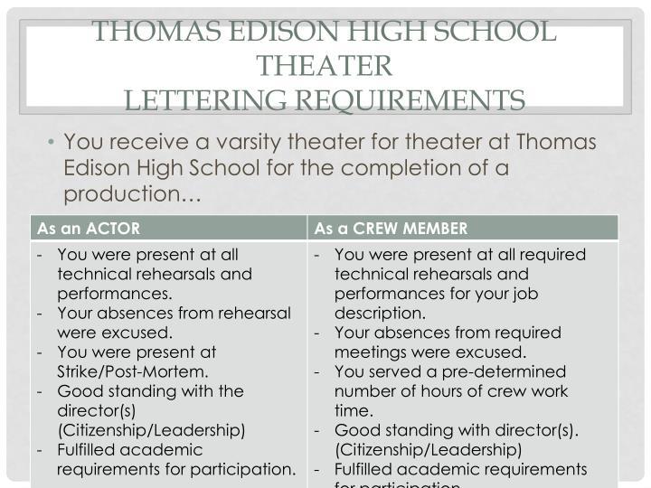 Thomas Edison High School Theater