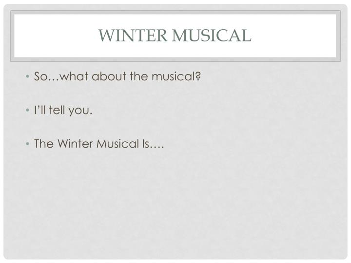Winter Musical