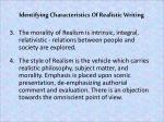 identifying characteristics of realistic writing1