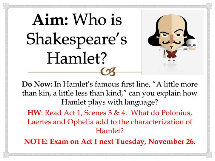 hamlet v hamlet who are the