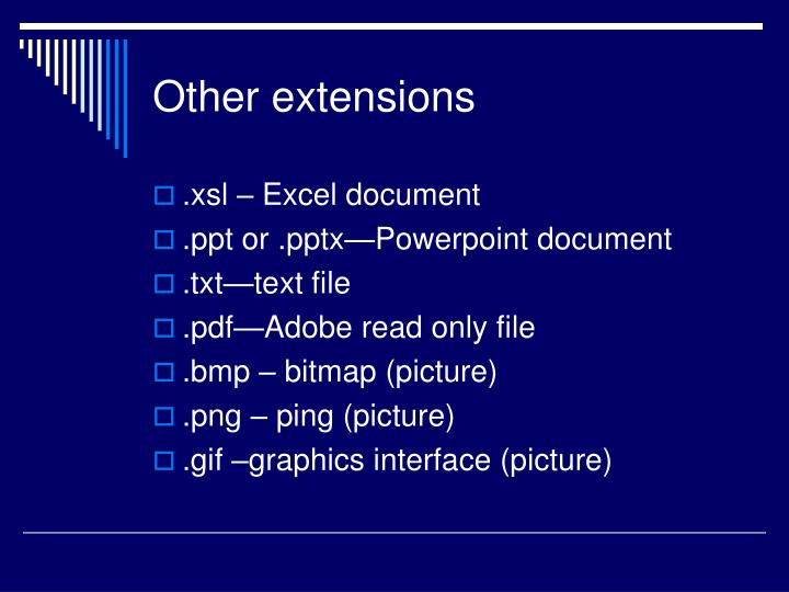 Other extensions