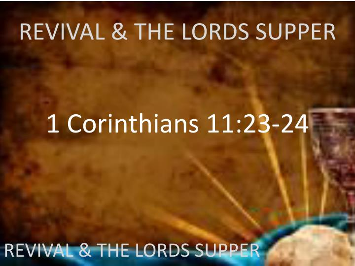 revival the lords supper n.