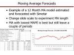 moving average forecasts1