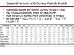 seasonal forecast with dummy variable models1