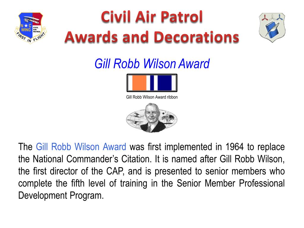 ppt civil air patrol awards and decorations powerpoint. Black Bedroom Furniture Sets. Home Design Ideas