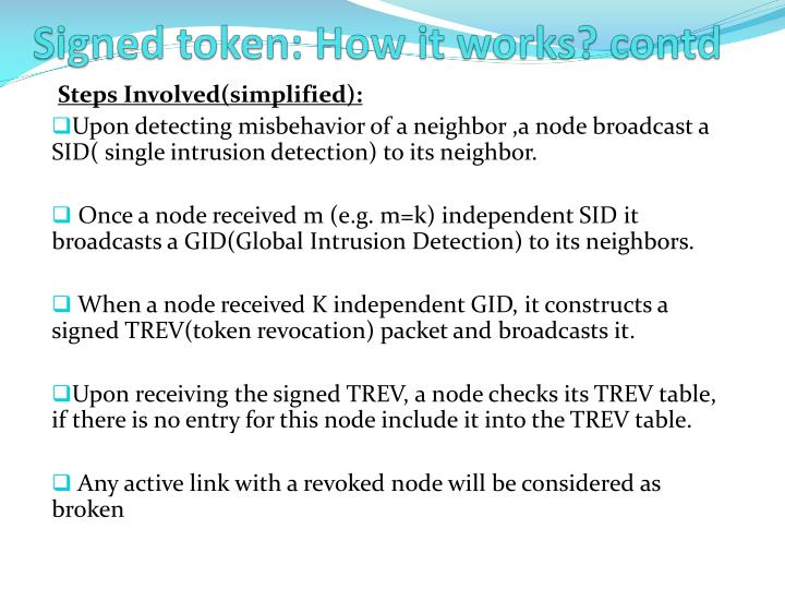 Signed token: How it works?