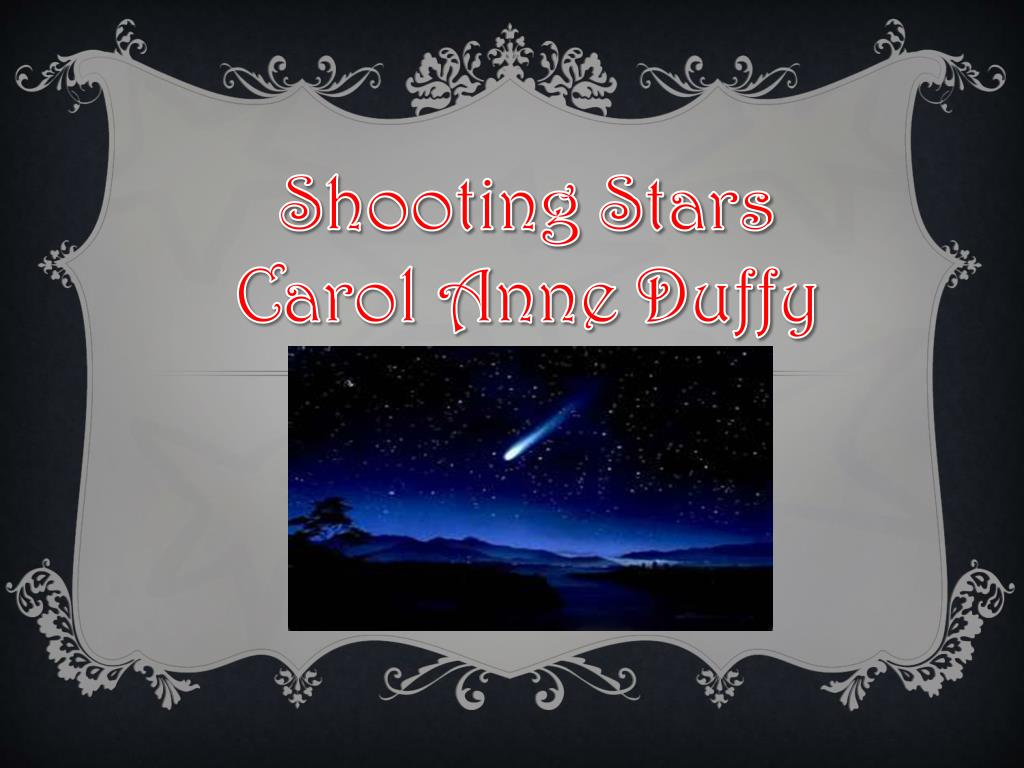 shooting stars carol ann duffy analysis