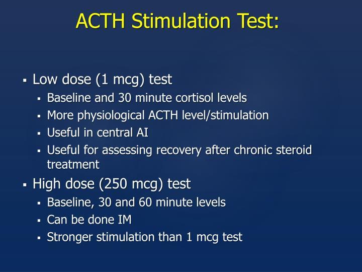 ACTH Stimulation Test: