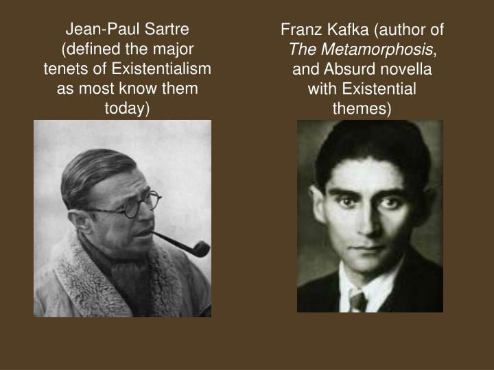 the basic themes of existentialism through the writings of jean paul sarte Read up like all branches of philosophy, existentialism developed through the writings of prominent philosophers start by reading works of jean-paul sartre, simone de beauvoir, maurice merleau-ponty, and albert camus.